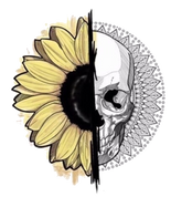 Sunflowers & Skulls