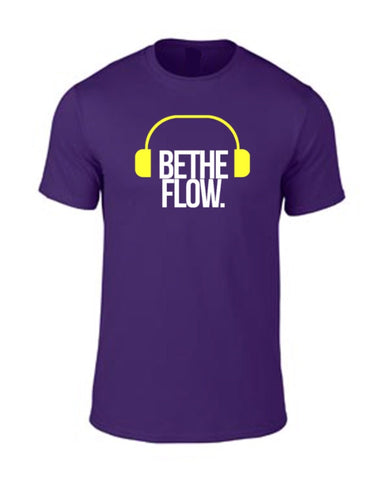 Purple BlockOut The Noise Tee