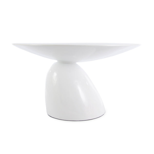 main view of the Aarnio Parabel Dining Table in white