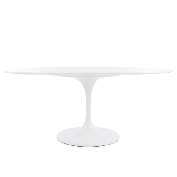 Saarinen Tulip Dining Table Replica Large Oval - White Laminate (2 Sizes)