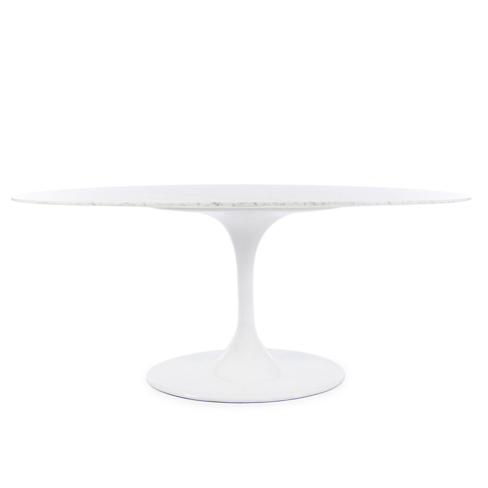 Saarinen Tulip Dining Table Replica Large Oval - Italian Carrara Marble (2 Sizes)