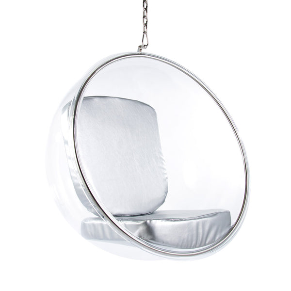 Main view of the Aarnio Bubble Chair with Silver cushion