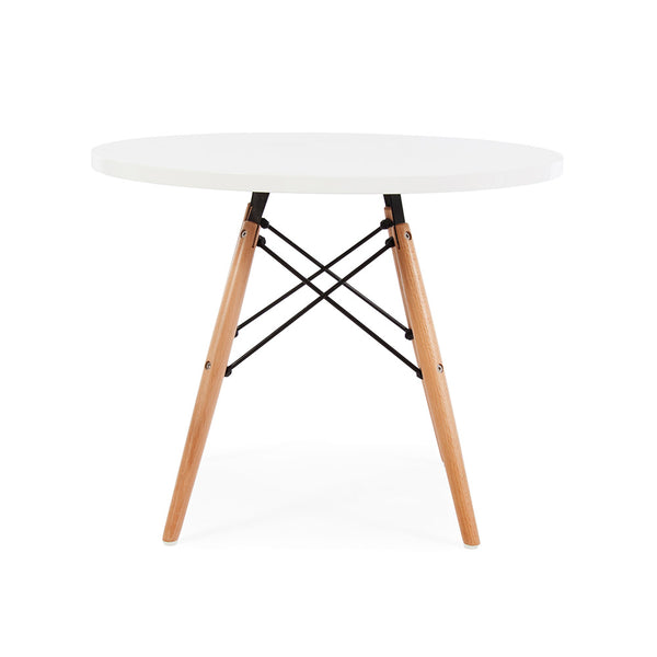 Eames Kids Size Dowel Leg Dining Table Replica - White Laminate Top