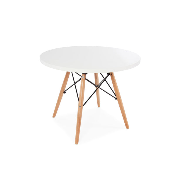 Eames Dowel Leg Side End Table Replica - White Laminate Top