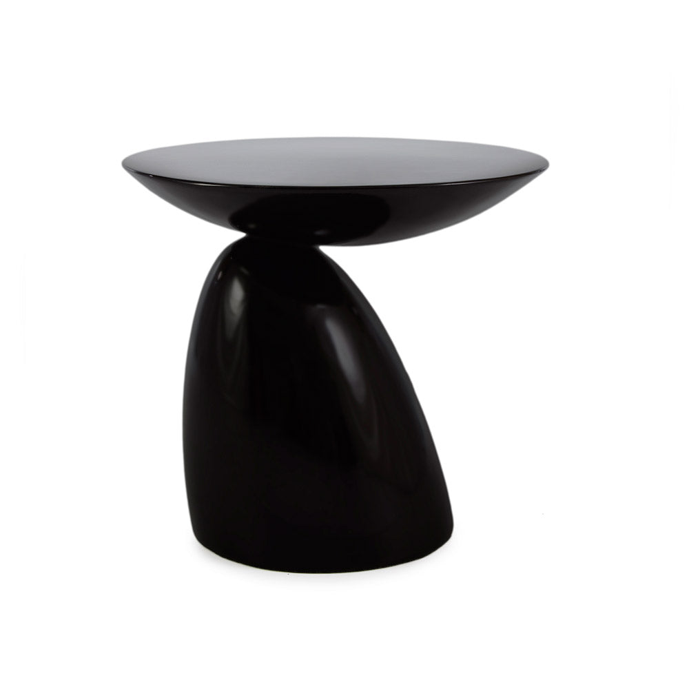 main view of the Aarnio Parabel Side Table in black