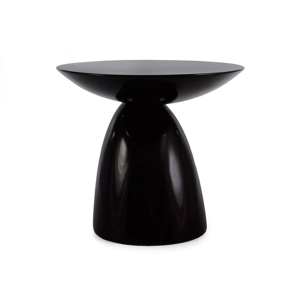 front view of the Aarnio Parabel Side Table in black