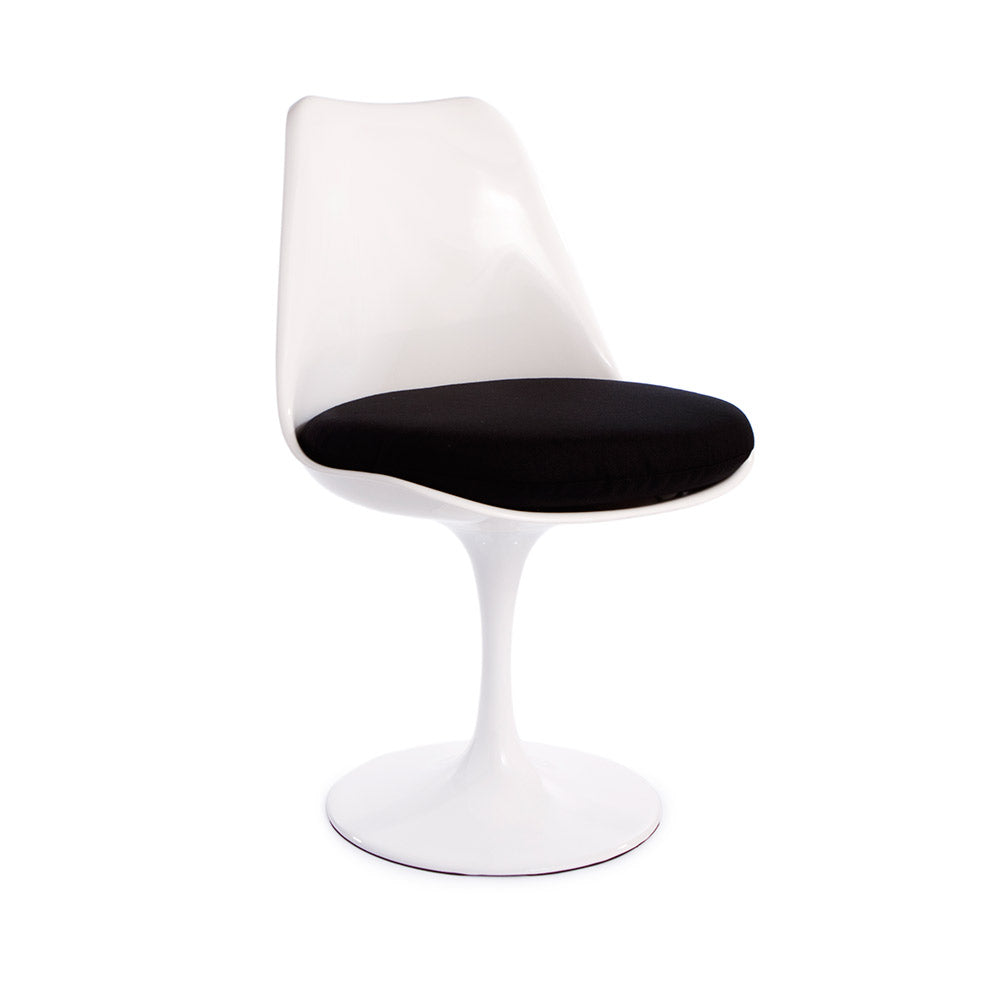 "Saarinen Round Tulip Table & Chairs Set Replica - 47"" White Laminate Table & 6 Tulip Side Chairs"