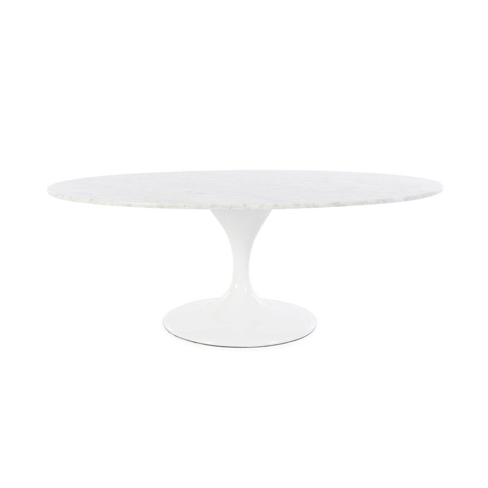 Saarinen Oval Tulip Coffee Table Replica - Italian Carrara Marble