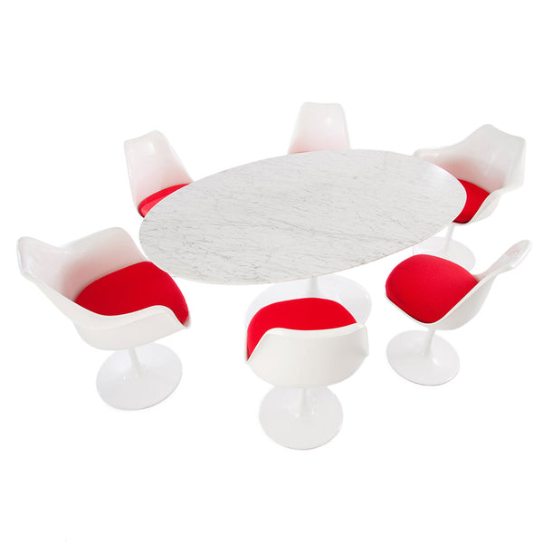 Saarinen Tulip Oval Conference Table - Italian Carrara Marble (2 Sizes)