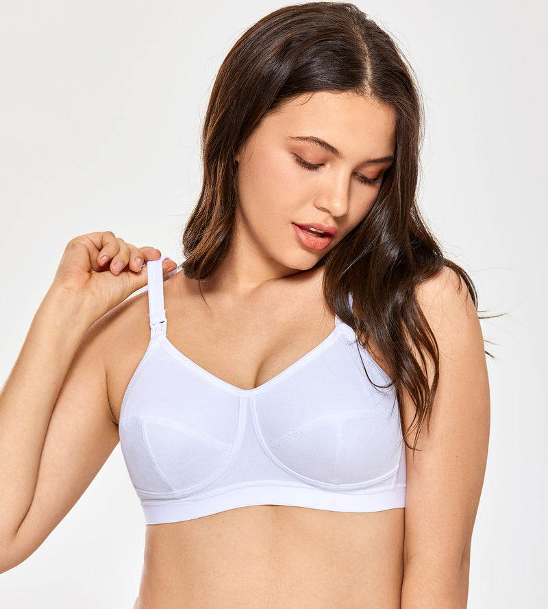 Cotton Plus Size Wirefree Nursing Bra