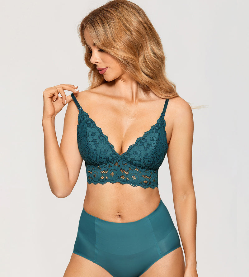Lace Lightly Lined Wirefree Nursing Bralette