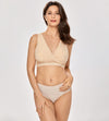 Cotton Hands Free Pumping Nursing Bra