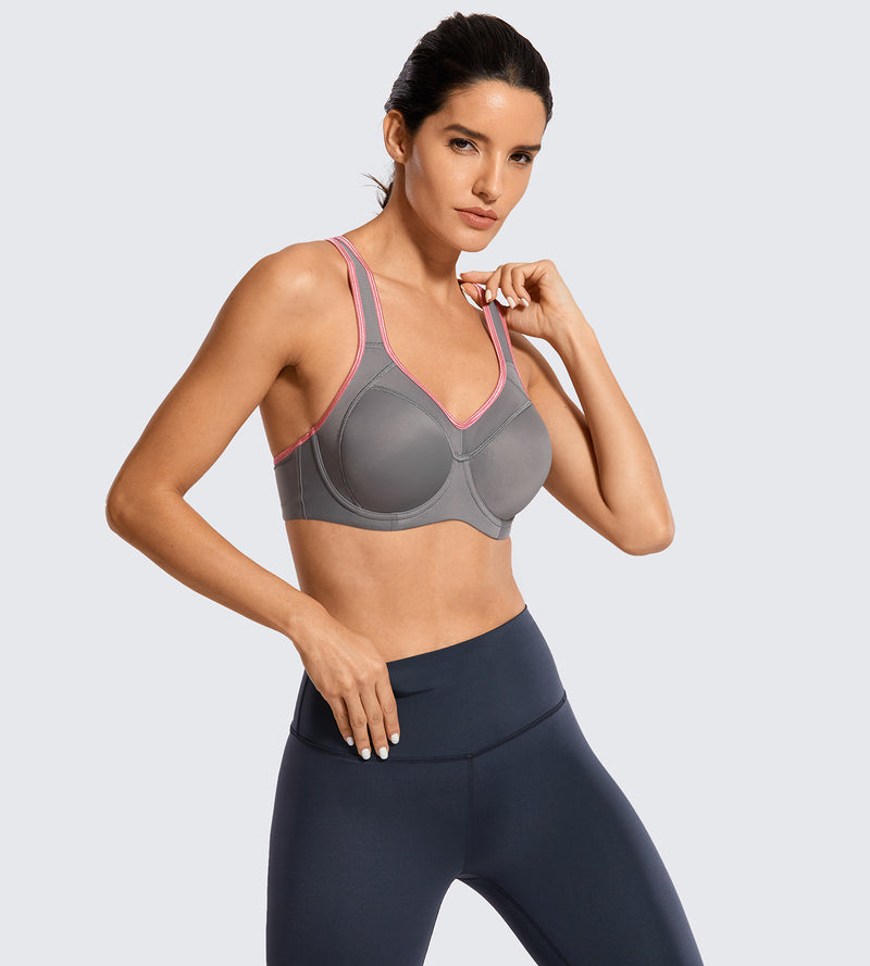 Racerback High Impact  Underwire Sports Bra