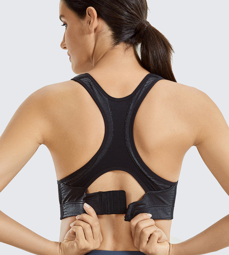 Front Adjustable High Impact Sports Bra