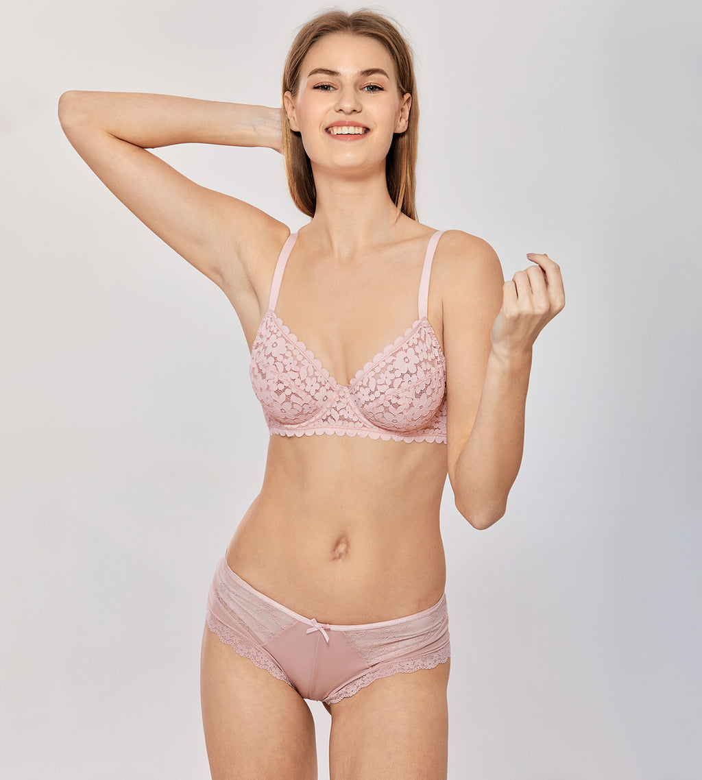 MONICA Lace Minimizer Unlined Bra