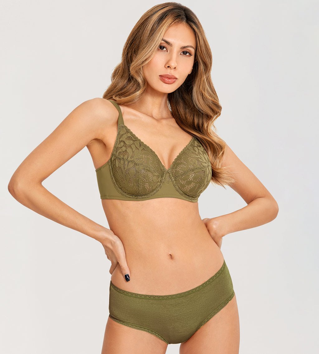 CACTUS Lace Full Coverge Bra