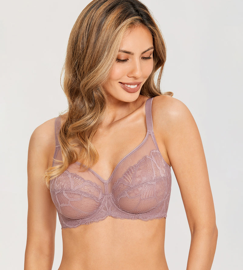 HAZY Sexy See Through Unlined  Bra