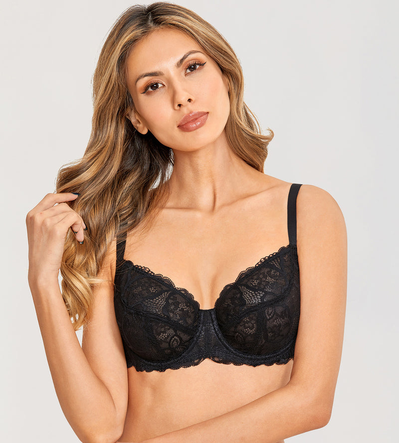 HAZY See Through Full Coverage Bra