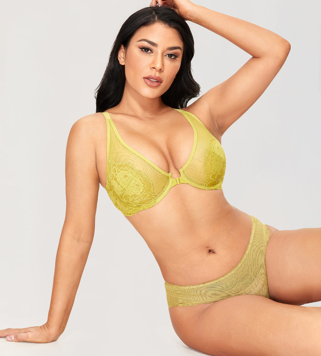 BUTTERFLY Lace Front Closure Bra