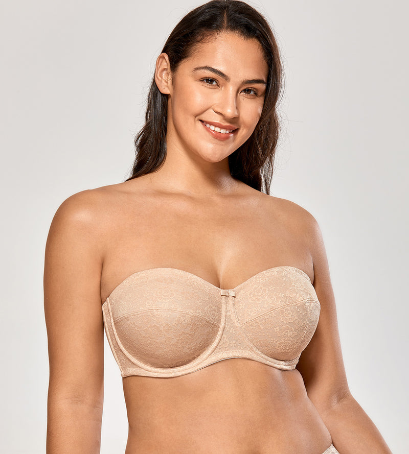 Lace Unlined Strapless Bra