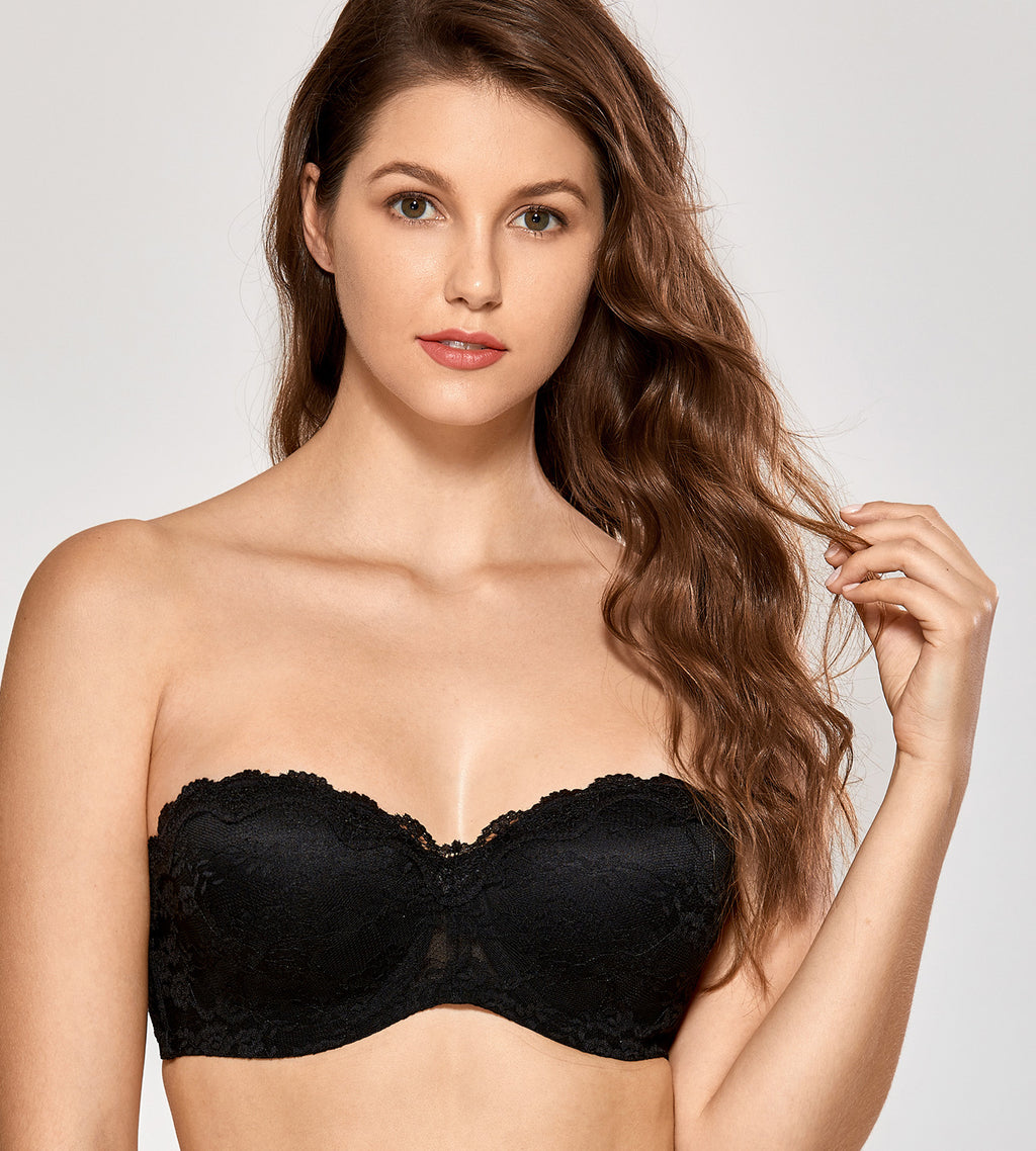 Lace Multiway Underwire Strapless Bra
