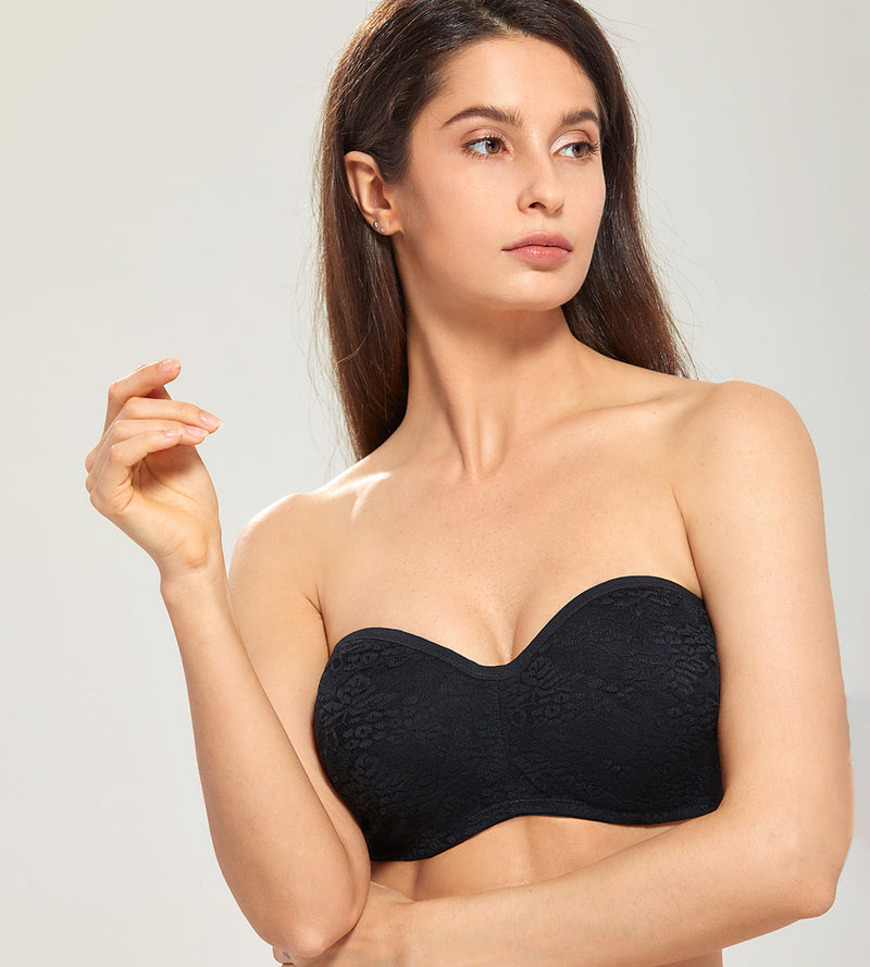 Lace Unlined Underwire Strapless Bra