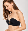 Push Up Bustier Underwire Strapless Bra