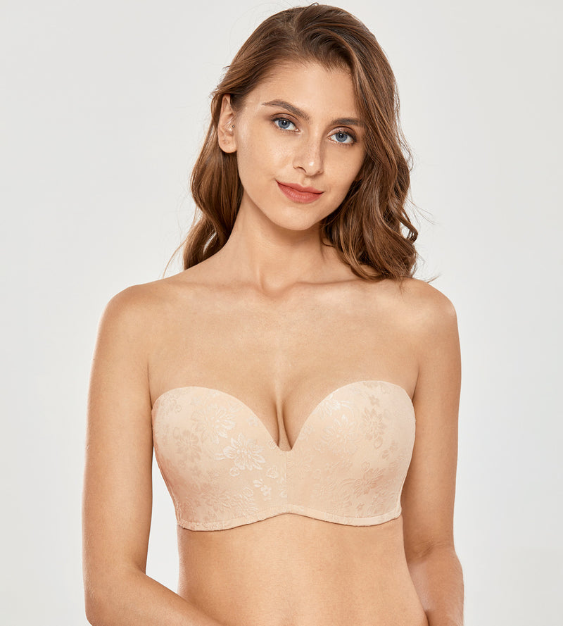Jacquard Lift Great Strapless Bra