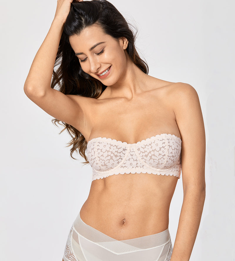 MONICA Lace Strapless Balconette Bra