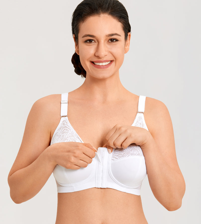 Lace Front Closure Support Posture Bra
