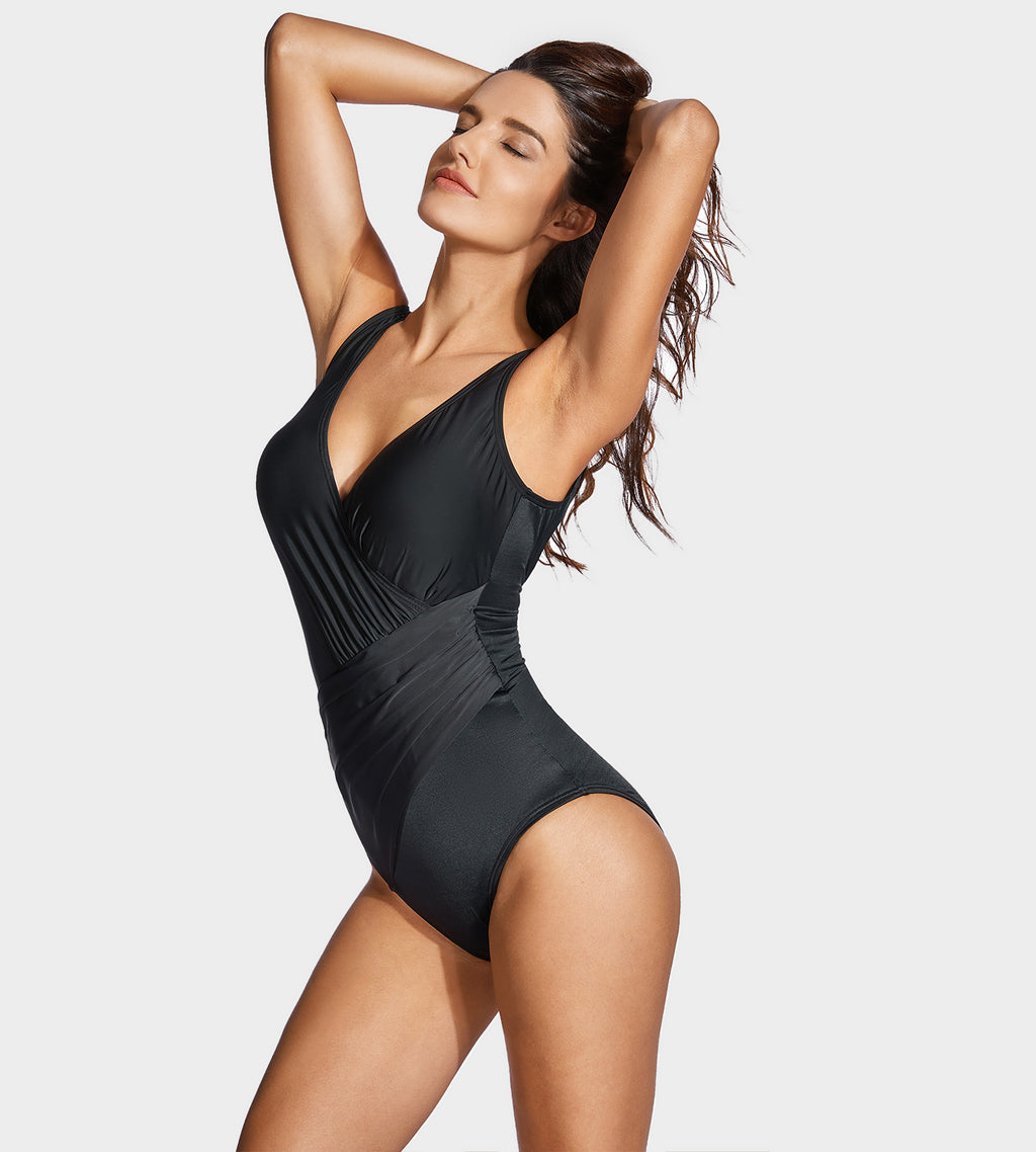 Ruched Slimming One Piece Swimsuits