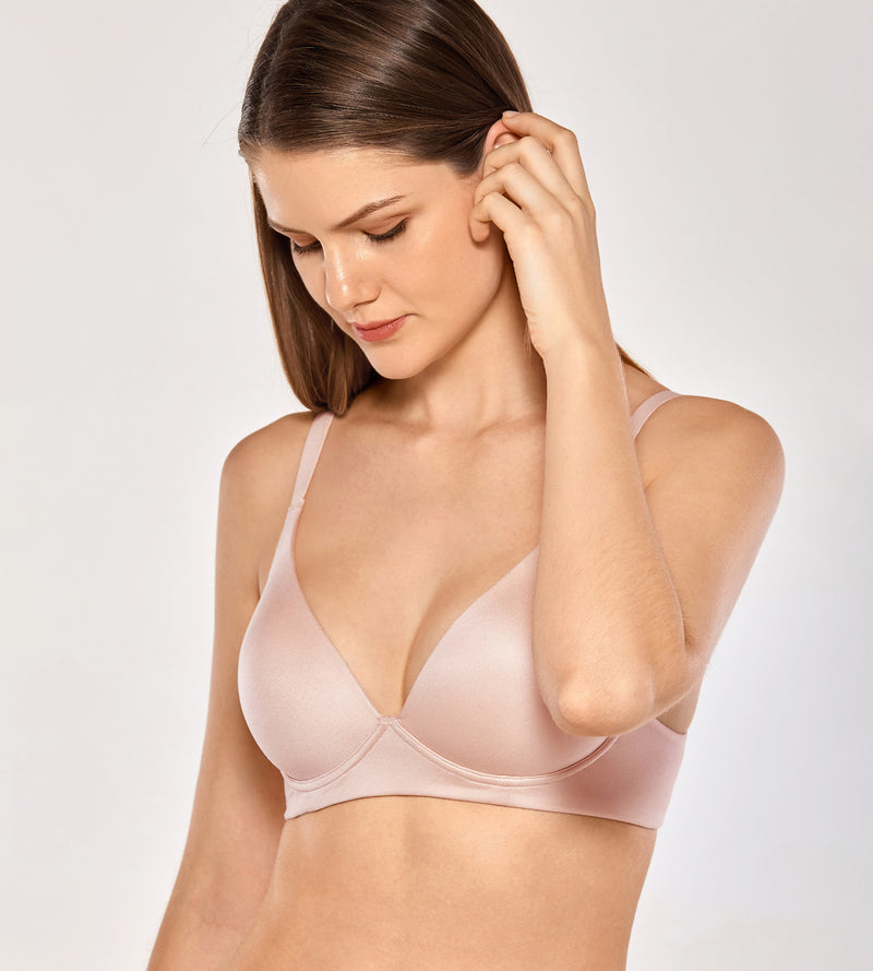 Padded Wireless Triangle Plunge Bra