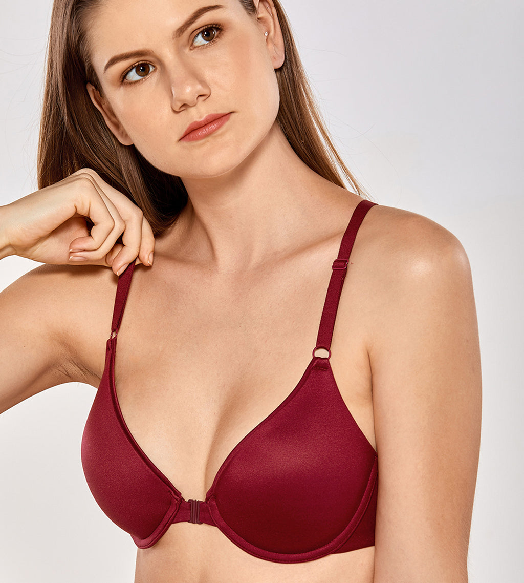 Lightly Lined Front Closure T-Shirt Bra