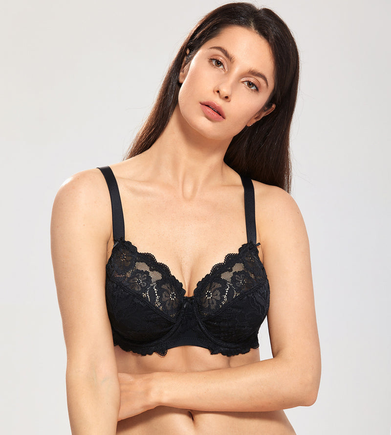 Floral Lace Full Coverage Underwired Bra