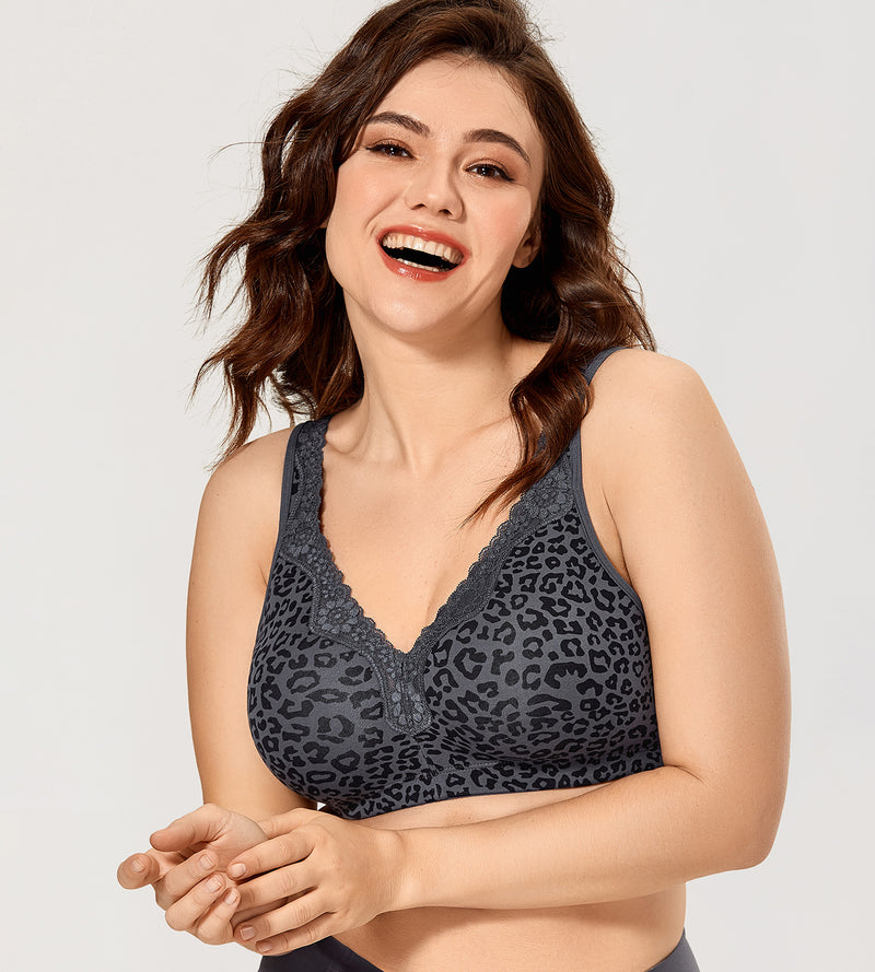 Leopard Cotton Wirefree Bra
