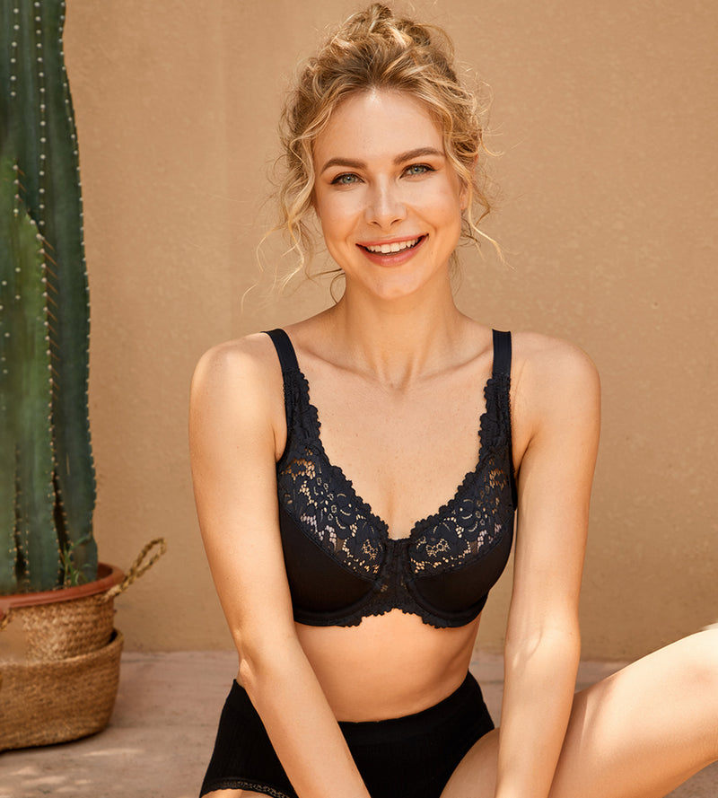 Lace  Full Coverage Cotton Bra