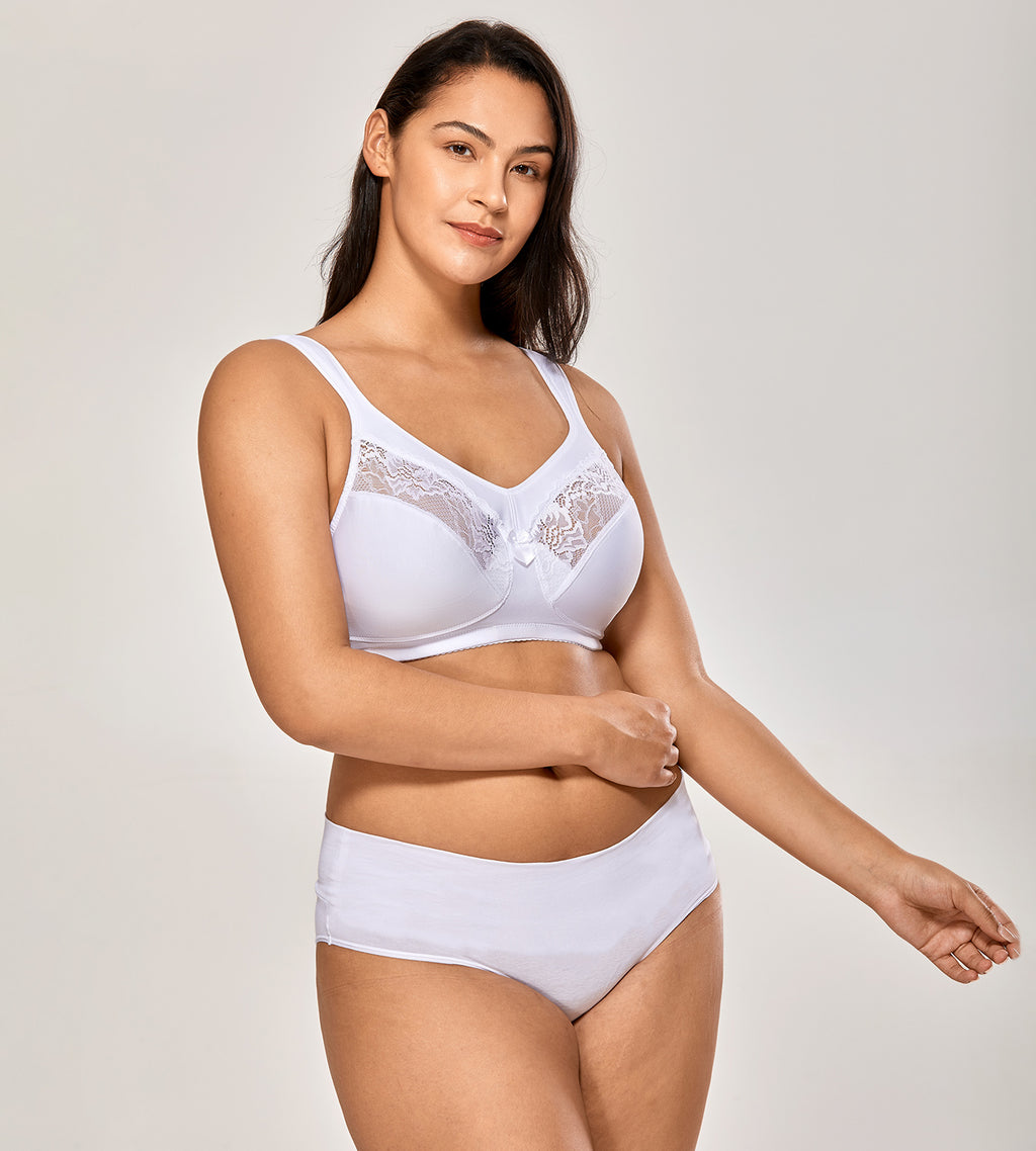 Unlined Plus Size Wirefree Minimizer Bra