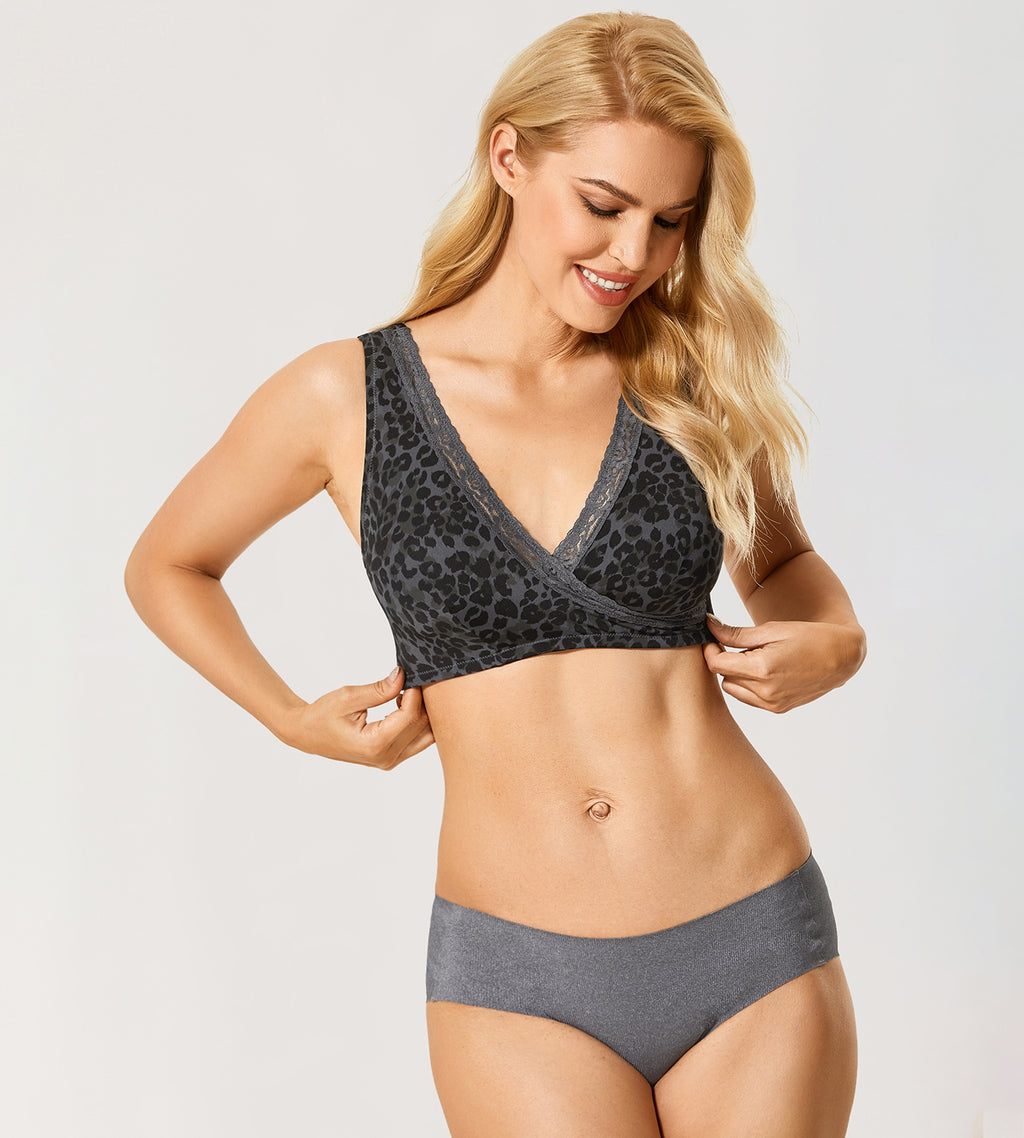 Leopard Comfortable Nursing &Sleep Bra
