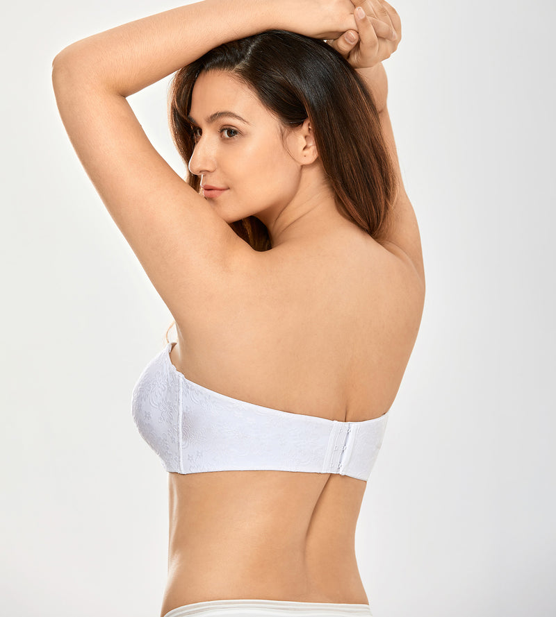 Jacquard Unlined Strapless Bra