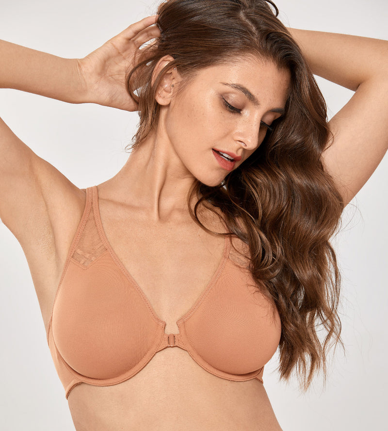 Racerback  Front Closure Unlined Bras