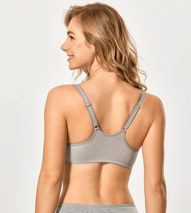 Unlined Racerback Front Closure Bras