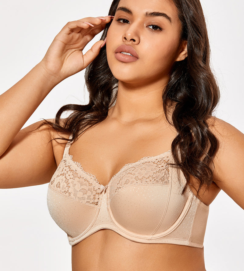 Lace Non-Padded Underwire Plus Size Bra