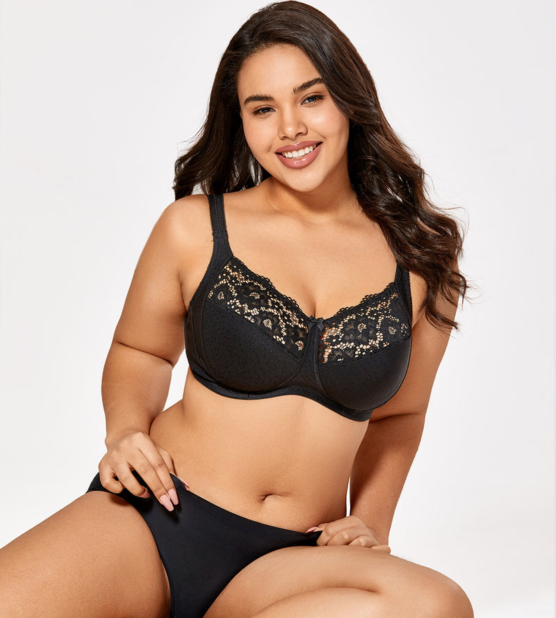 Lace Full Coverage Wireless Bra