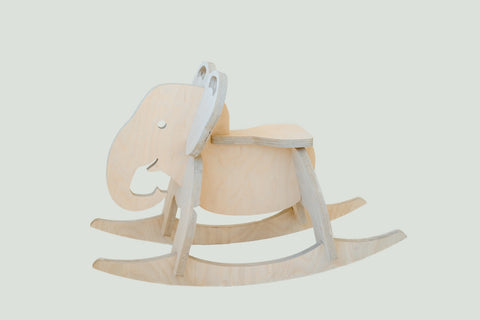 Rock-that-Eli Elephant Rocker