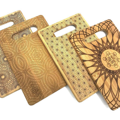 Laser-Engraved Bamboo Trays