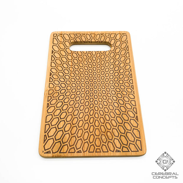 Honeycomb Implosion - Bamboo Tray - By Cerebral Concepts