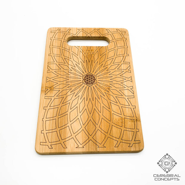 Lotus Flower Spiral - Bamboo Tray - By Cerebral Concepts