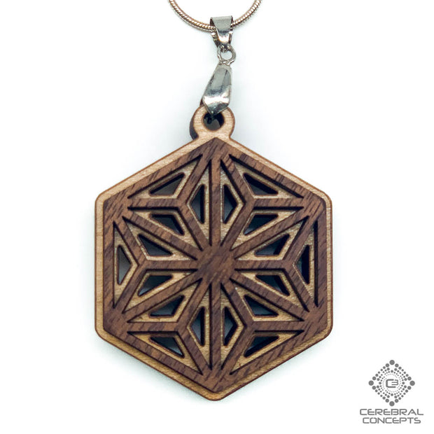 Hexagonal Division  - Two Layer Necklace