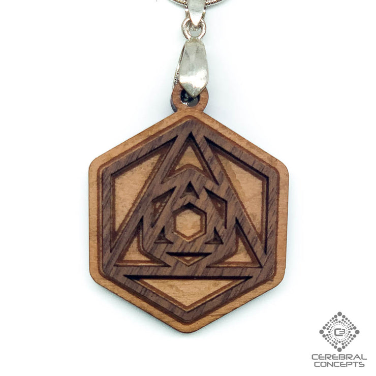 Tri-Penta Portal  - Two Layer Necklace - by Cerebral Concepts