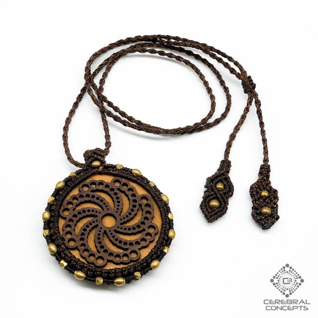 Crop Circle - Necklace W/ Macramé - By Root Of Creations & Cerebral Concepts